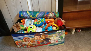 Paw Patrol toy box and toys