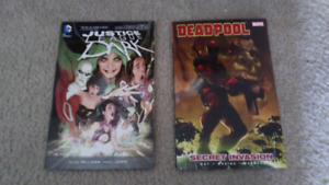 Justice League Dark & Deadpool Graphic Novels