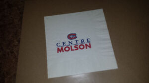 Canadiens de Montréal cocktail napkins CENTRE MOLSON hockey
