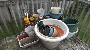 ca. 30 pots for plants, up to 2 feet wide