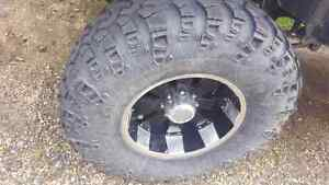"""20"""" Mazzi rims with 41"""" Super Swampers"""