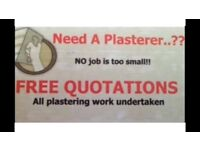 PLASTERER NO JOB IS TOO SMALL GLASGOW/PAISLEY AREA