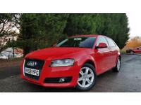 2009 59 AUDI A3 1.4 TFSI SE 3D 123 BHP 6 SPEED MANUAL RED