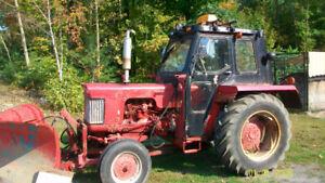tracteur case diésel model 430, avec cabine et pelle hydrolique