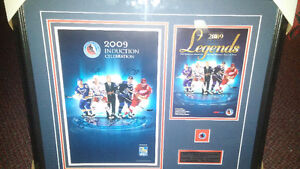 2009 FRAMED AUTOGRAPHED HOCKEY HALL OF FAME POSTER