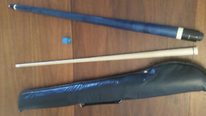 Embassy 2-pc Pool Cue w/case