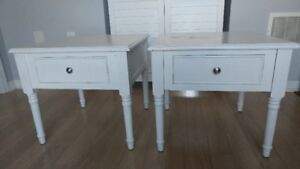 2 White End Tables