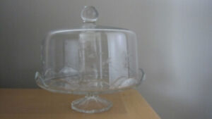 CRYSTAL CAKE PLATE & DOME