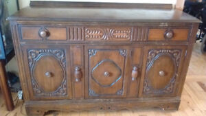 Solid wood buffet!