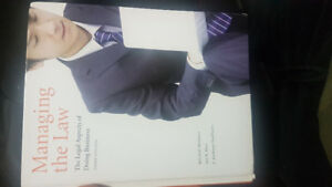 Managing the Law - Third (3rd) edition textbook