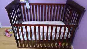 3 in 1 Crib with Mattress