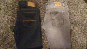 1 pair aeropostale straight jeans 34-30&largodns straight  34-30
