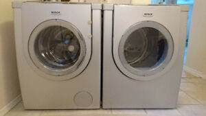 BOSCH FRONT LOAD WASHER and DRYER.