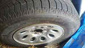 2 Michelin latitude xice winter tires for sale with rims