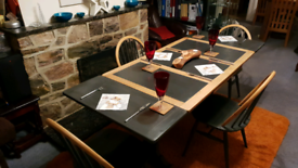 Refurbished Extendable Wooden Dining Table and 4 Chairs