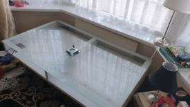 Glass table / large coffee table