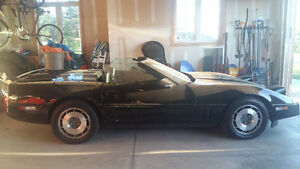 1987 corvette convertible black