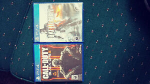 Call of duty black ops 3 and battlefeid 4 for PS4