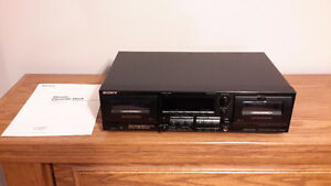 Sony TC-W565 Dual Stereo Cassette Tape Deck Player Recorder