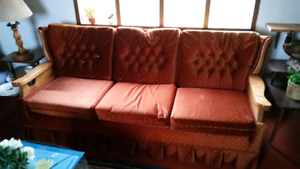 Orange Couch for sale.