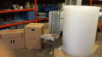 1000 sq ft ( 4 x 250 ft ) roll of bubble wrap $30