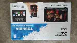 "Toshiba LED SMART HDTV 32"",WiFi, Chromecast,3xHDMI,Brand New Edmonton Edmonton Area image 1"