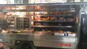 Busy coffee truck route and truck for sale
