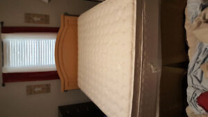 Queen size mattress/box spring / frame and head board for sale