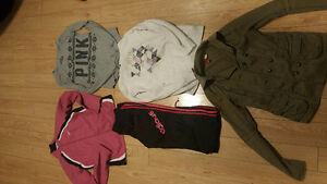 Womens name brand  sports jackets a shirt pants and H&m