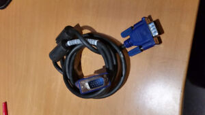 VGA (Male to male) computer cable 6 feet long