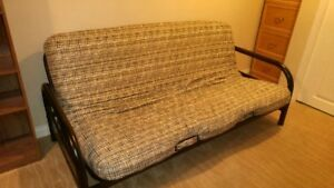 Futon with upgraded mattress for sale