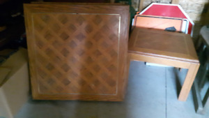 Wood Coffee Table and 2 end Tables.