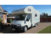 Lunar Champ 520e Fiat 4 Berth 4 Seat Belts Motorhome For Sale