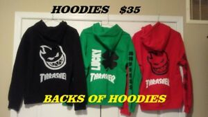 THRASHER HOODIES AND T SHIRTS BLOWOUT