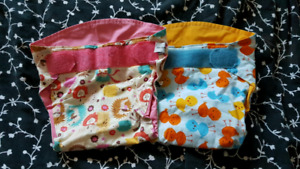 2 Green Line cloth diaper covers