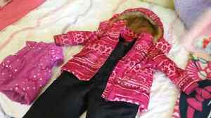 Girls 2t winter coat and snow pants