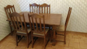 Dining Table, Chairs, Buffet, Hutch
