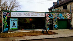 Cash For Clothes - Everything is always sold for $5 or less.