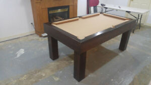 POOL TABLE / DINING TOP. 2 IN ONE. CUSTOM BUILT