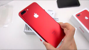 """iPhone 7 Plus Limited Edition """"Product Red"""" 128Gb w/Warranty!"""
