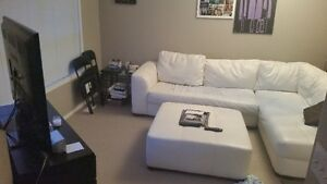 white sectional (has blue dye stain) open to offers