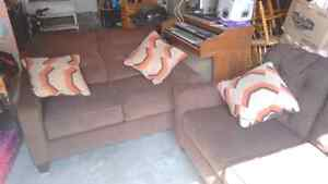 Brown Couch and Loveseat Like New