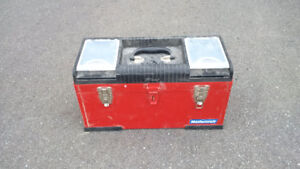 Red Metal Toolbox, with some tools