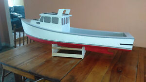 Home made model boat.