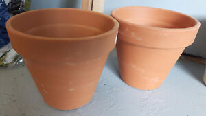 "NEW 6"" clay pots"