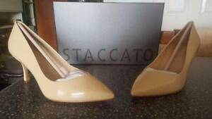 Women's Nude Staccato Heel Shoes - Various Sizes Gorokan Wyong Area Preview