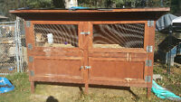 large well built rabbit hutch