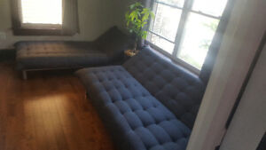 Great couches! Both fold flat to double as sleeper couches!