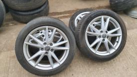 Audi alloys 18inch 215 50 18 alloy wheels