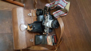 Canon AE-1 with lenses and extras